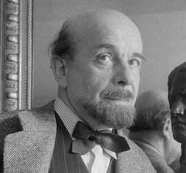 Charles Vildrac (1882-1971), écrivain et poète français. Paris, 1954.